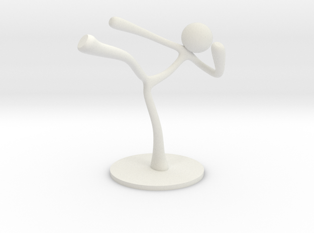 MTI Stickman-poses02 in White Natural Versatile Plastic