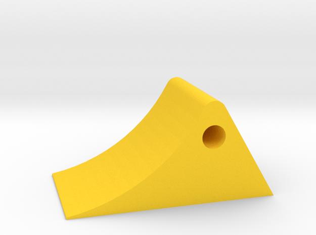 Wheel chock 1/32 in Yellow Processed Versatile Plastic