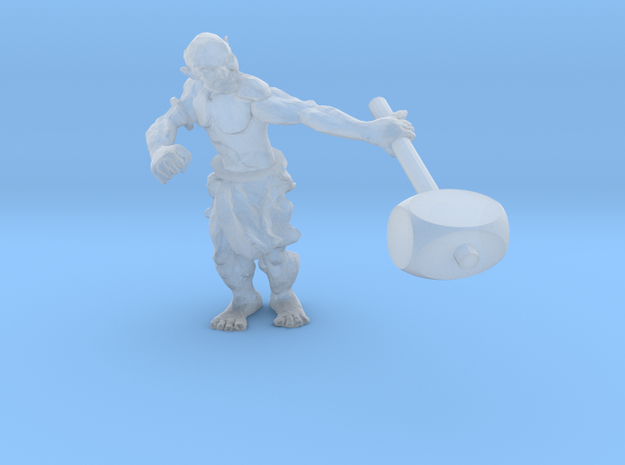 31mm Orc Miniature in Smooth Fine Detail Plastic