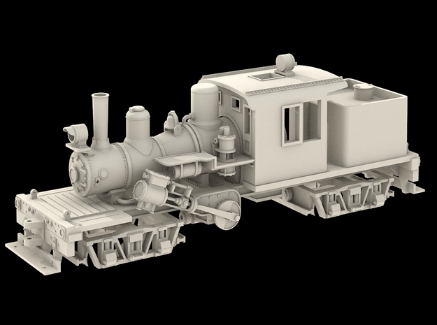 Nn3 Scale 25 Ton Climax in Smoothest Fine Detail Plastic
