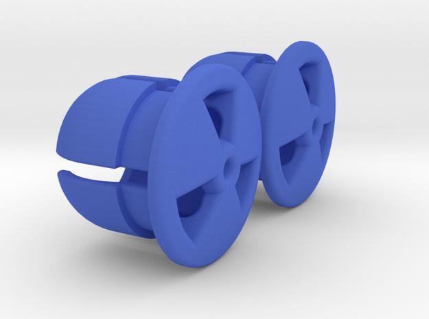 Bar End Caps in Blue Processed Versatile Plastic