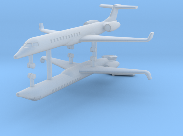 1/700 Embraer ERJ 145 (x2) in Smooth Fine Detail Plastic