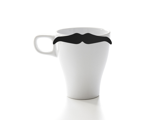 Mug & glass accessories Mustache 6 in Black Natural Versatile Plastic