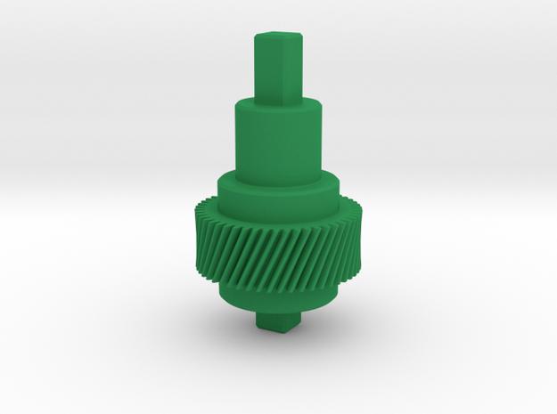 Gear Mn=1 Z=50 Pressure Angle=20° Beta=20° in Green Processed Versatile Plastic