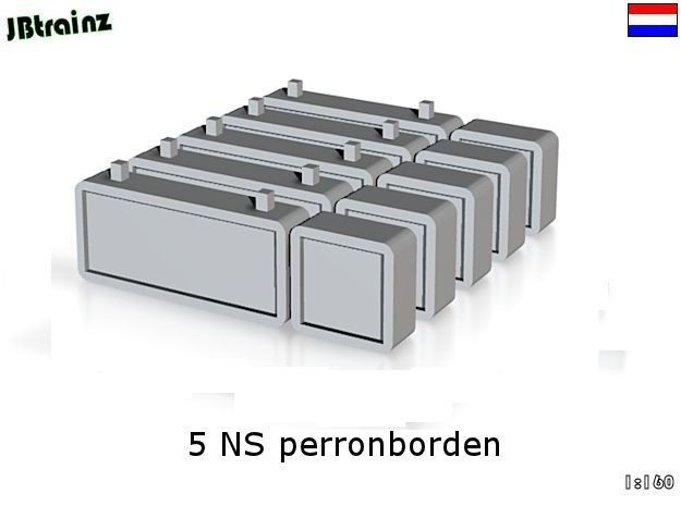 5 NS perronborden (n-scale) in Frosted Ultra Detail