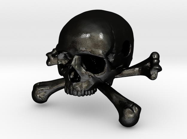 35mm 1.4in Bead Skull & Bones Pendant Crane