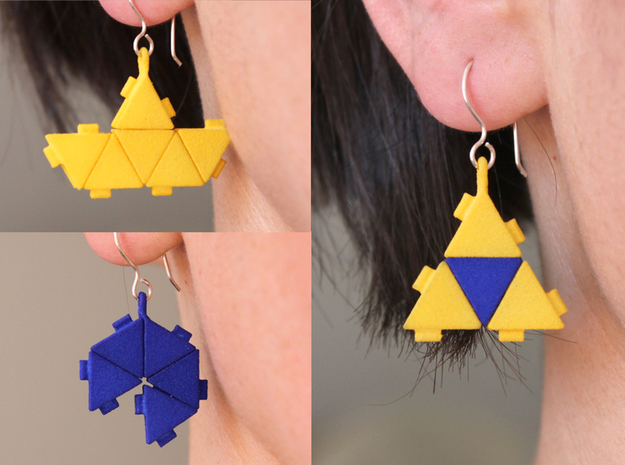 Triangle Block Earrings