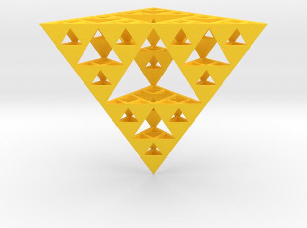 Hollow Sierpinski Tetrahedron 3d printed