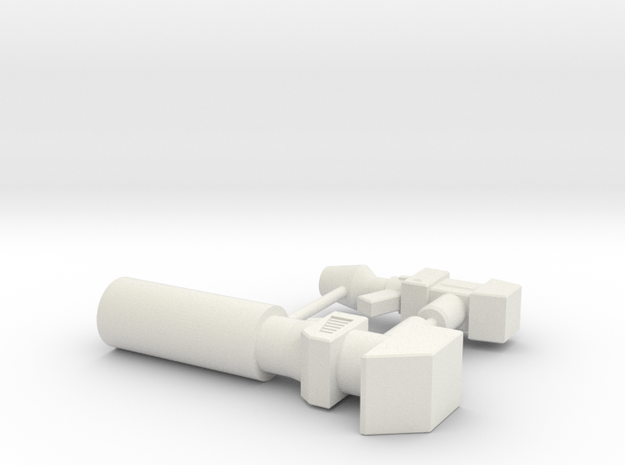 MiniTank Guns in White Natural Versatile Plastic