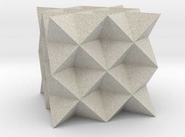 64 Tetrahedron Grid in Natural Sandstone