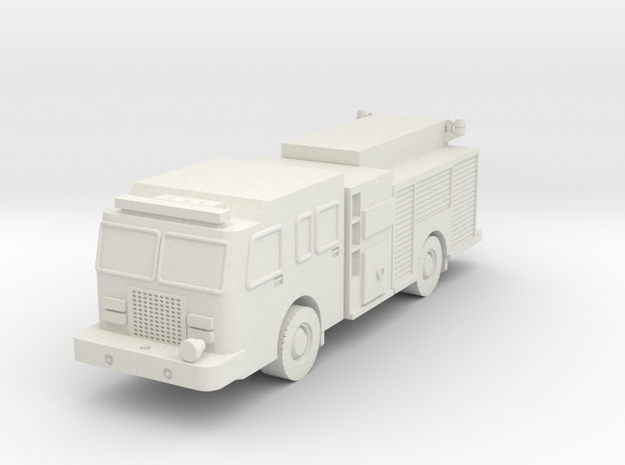 1/87 scale Fire Pump Truck in White Natural Versatile Plastic