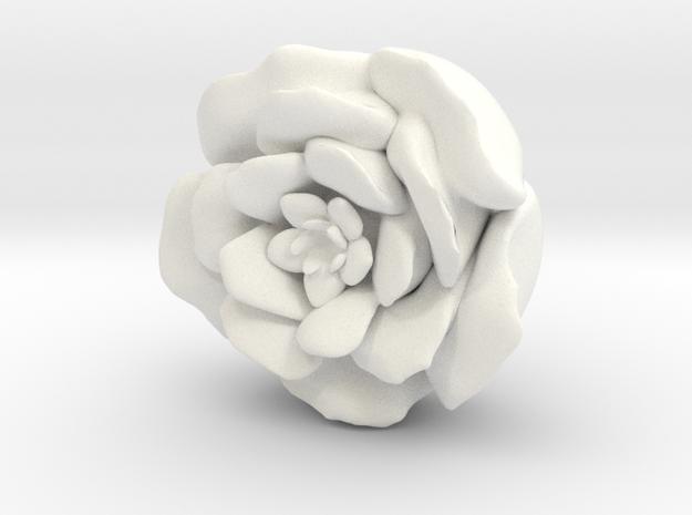 Rose Tea Light Cover / Christmas Light Cover  ~2.5 in White Processed Versatile Plastic