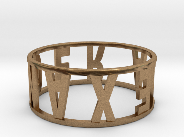 Ring13 in Natural Brass