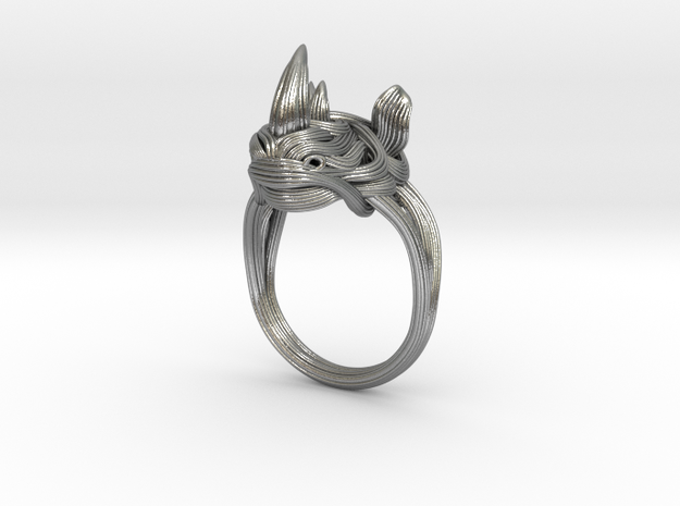 Rhinoceros Ring  in Natural Silver: 11.25 / 64.625