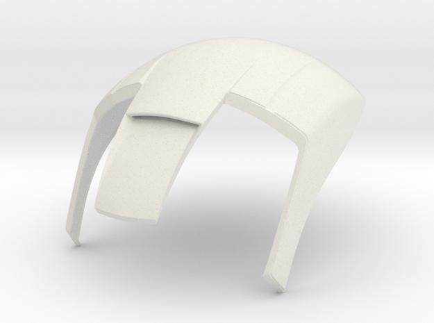 Iron Man mkIII Helmet - Part 3 in White Strong & Flexible