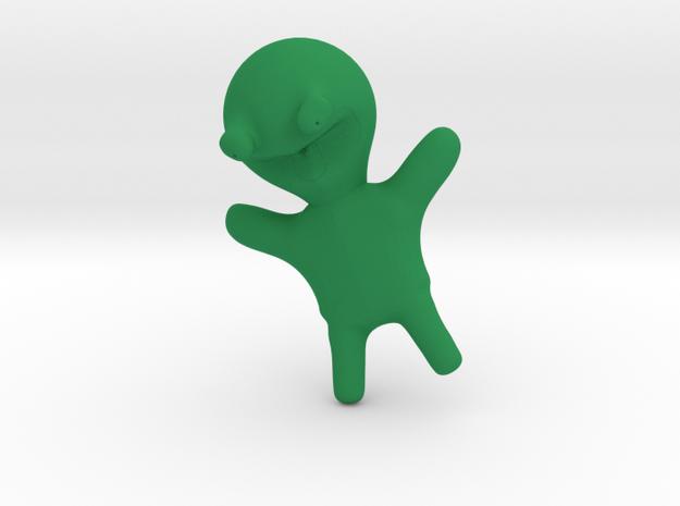 Happy Frog Toy in Green Processed Versatile Plastic