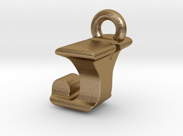 3D Monogram Pendant - JYF1 in Polished Gold Steel