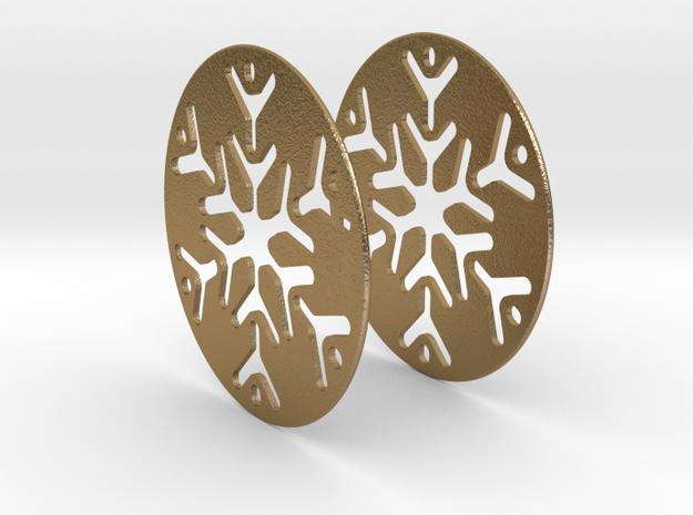 Snowflake 3 Hoop Earrings 50mm