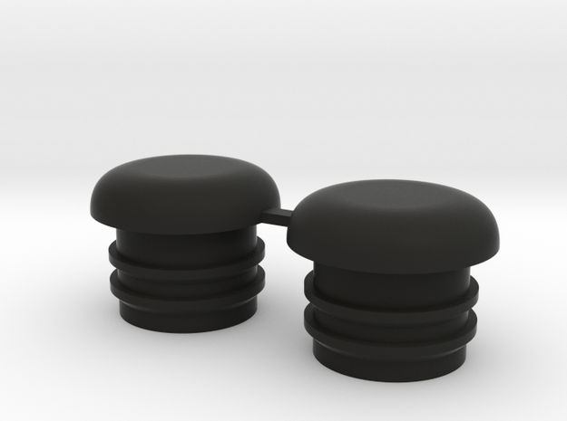 Bugaboo Front Wheel Caps in Black Strong & Flexible