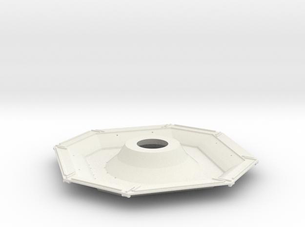 01-J Mission-Descent Stage Underside in White Natural Versatile Plastic