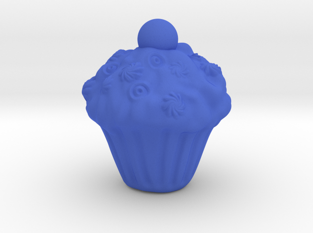 Yazdi cake small in Blue Strong & Flexible Polished