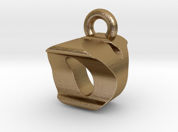 3D Monogram Pendant - OYF1 in Polished Gold Steel