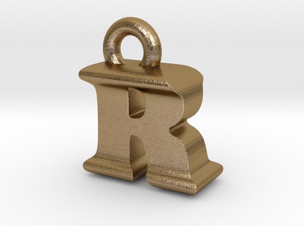 3D Monogram - RIF1 in Polished Gold Steel