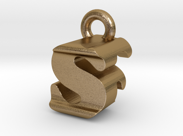 3D Monogram - SFF1 in Polished Gold Steel