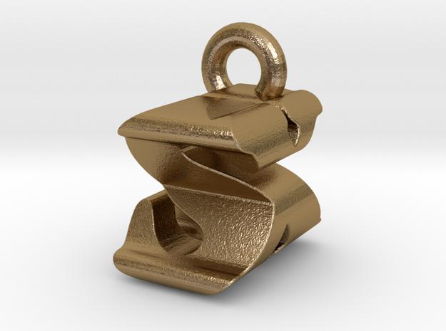 3D Monogram - SXF1 in Polished Gold Steel
