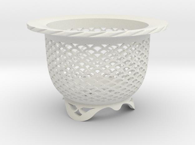 "Neo Pot - Model 4 - Size 3.0 (2.8"" ID) in White Natural Versatile Plastic"