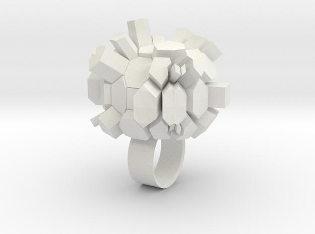 Rocky Ring in White Natural Versatile Plastic