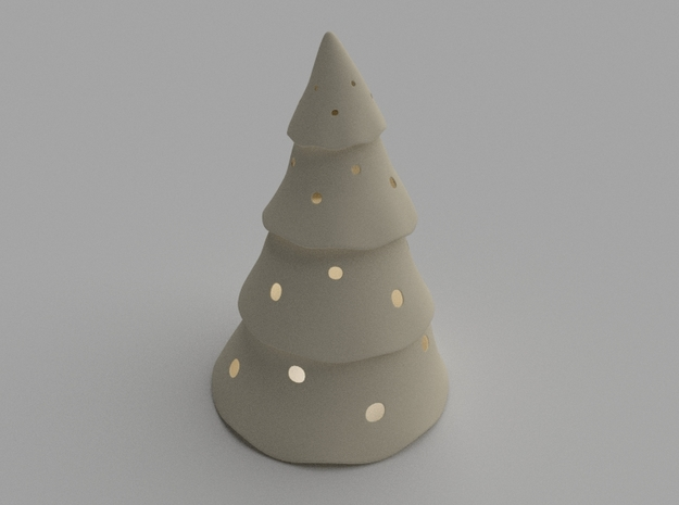 Candle Cover Christmas Tree 3d printed