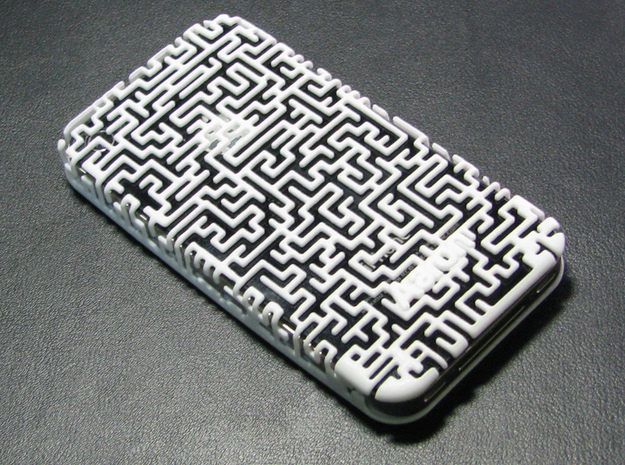 IPhone 4/4S - Maze Case 3d printed Camera Cutout not seen in this image.