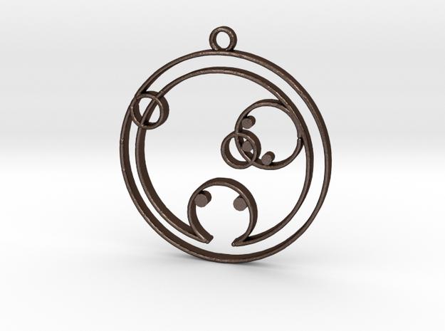 Chloe - Necklace in Matte Bronze Steel