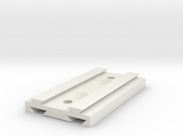 Slide plate for mounting something in White Natural Versatile Plastic