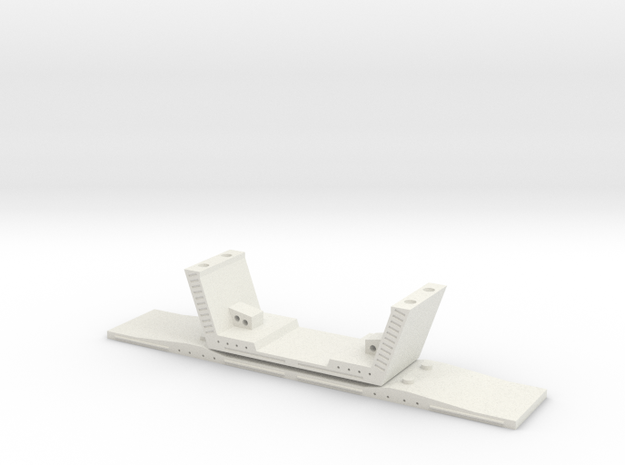 HO/1:87 Precast concrete bridge segment (wide/no r in White Natural Versatile Plastic