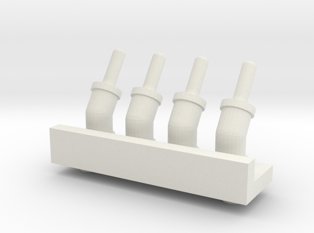 1.6AirHoseBracket.stl in White Natural Versatile Plastic