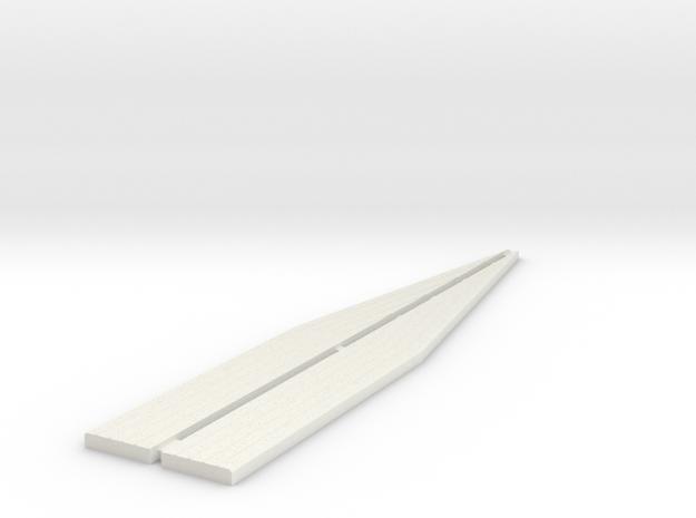 Loading Bank Edging - Ramps in White Natural Versatile Plastic