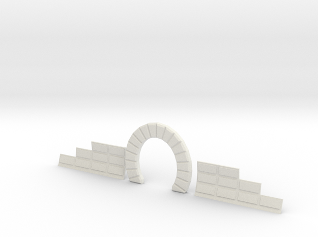 Z SINGLE TRACK STONE TUNNEL W SIDES in White Natural Versatile Plastic