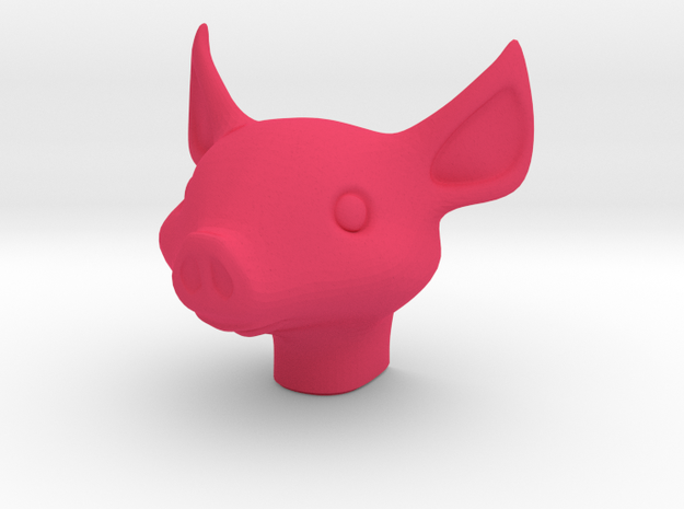 Pig Night Light in Pink Processed Versatile Plastic