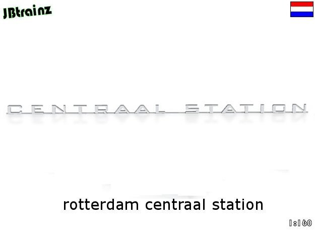 Rotterdam Centraal Station (n-scale) in White Natural Versatile Plastic