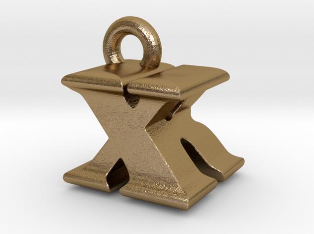 3D Monogram - XRF1 in Polished Gold Steel