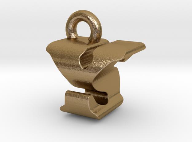 3D Monogram - YSF1 in Polished Gold Steel