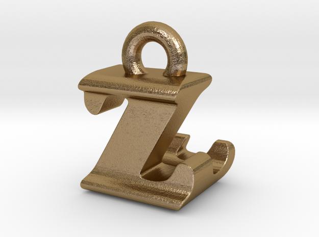 3D Monogram - ZLF1 in Polished Gold Steel