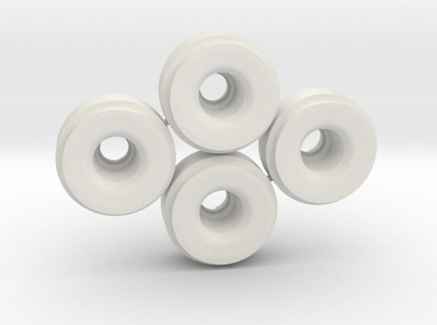 Mini-z SIPT29 Wheelset +3 in White Natural Versatile Plastic