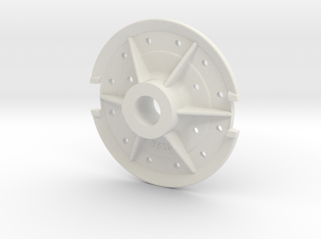 Climax Gear Hub 510 - 1-8th Scale in White Natural Versatile Plastic