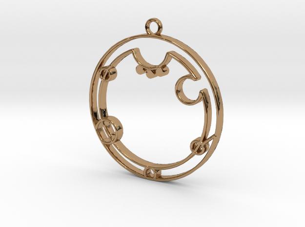 Aubrey - Necklace in Polished Brass