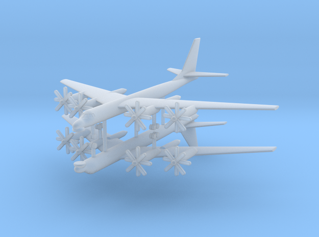 1/700 TU-95MS (Bear H) Stragetic Bomber (x2) in Smooth Fine Detail Plastic