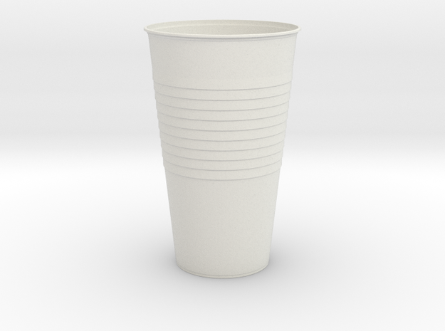 Mini Plastic Cup in White Natural Versatile Plastic