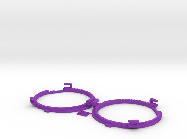 68.5mm Lens Separators   Oculus Rift DK2 in Purple Processed Versatile Plastic